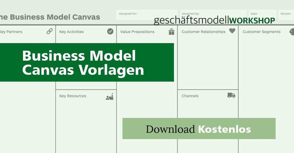 20+ Business Model Canvas Vorlagen in verschiedenen Sprachen | kostenlos