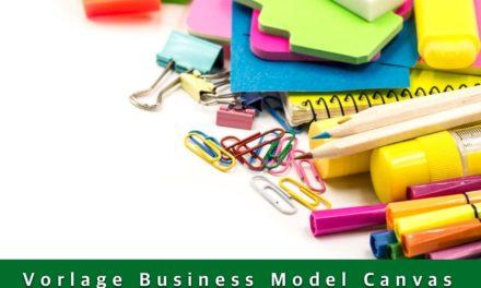 Business Model Canvas PDF Vorlage in DIN A4 bis DIN A1 zum download