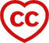 Creative Commons (CC)  rotes Herz Icon