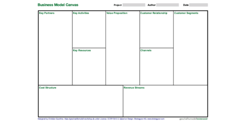 Business Model Canvas Template | pptx | EN